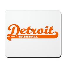 Detroit Baseball Script Mousepad