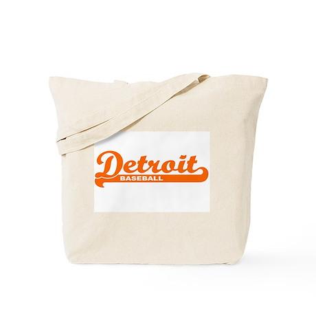 Detroit Baseball Script Tote Bag