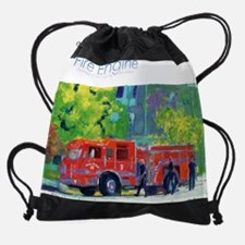 out and about Drawstring Bag