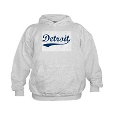 Detroit Script Distressed Hoodie