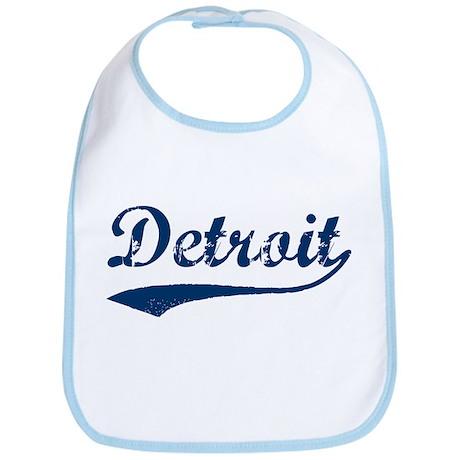 Detroit Script Distressed Bib