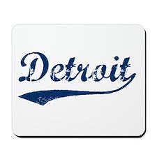Detroit Script Distressed Mousepad