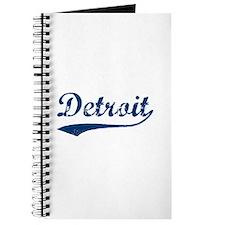 Detroit Script Distressed Journal