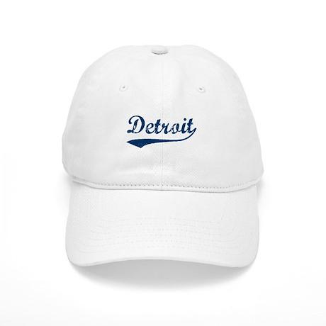 Detroit Script Distressed Cap