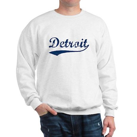 Detroit Script Distressed Sweatshirt
