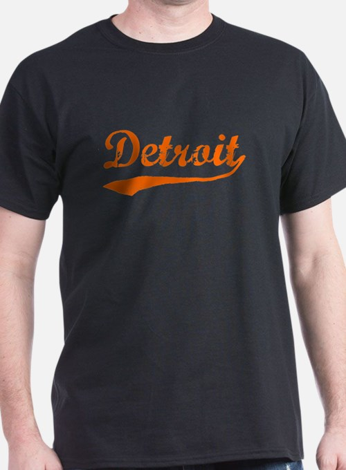 Detroit Script Distressed T-Shirt