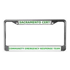 Sacramento CERT License Plate Frame