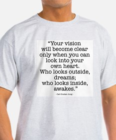 Vision by Carl Jung Ash Grey T-Shirt