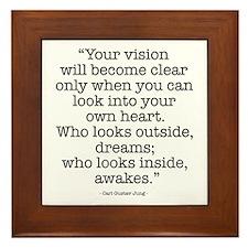 Vision by Carl Jung Framed Tile