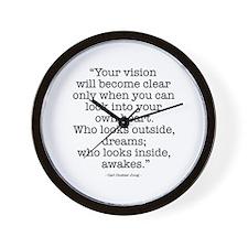 Vision by Carl Jung Wall Clock