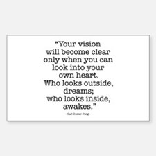 Vision by Carl Jung Rectangle Decal