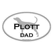 Plott DAD Oval Decal