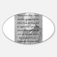 Bell - One Door Closes Sticker (Oval)