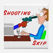 Shooting Skip Tile Coaster