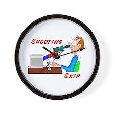 Shooting Skip Wall Clock
