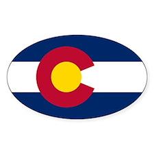 Colorado Flag Oval Decal
