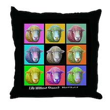 Throw Pillow - Sheep Pop Art
