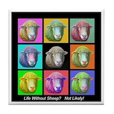 Tile Coaster~Sheep Pop Art