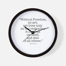 Albert Camus on Freedom & Art Wall Clock