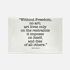 Albert Camus on Freedom & Art Rectangle Magnet