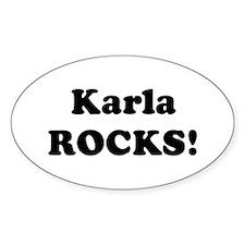 Karla Rocks! Oval Decal