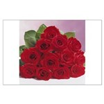 Red Rose Bouquet Large Poster
