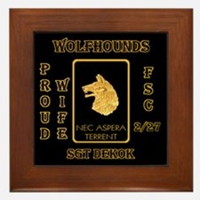 Proud Wolfhound Spouse Framed Tile