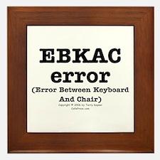 EBKAC error. Framed Tile