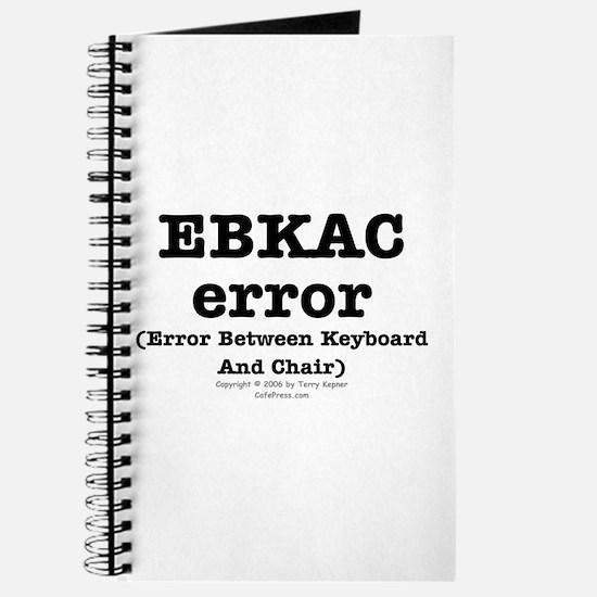 EBKAC error. Journal