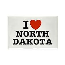 I Love North Dakota Rectangle Magnet