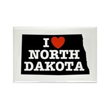 I Love North Dakota Rectangle Magnet