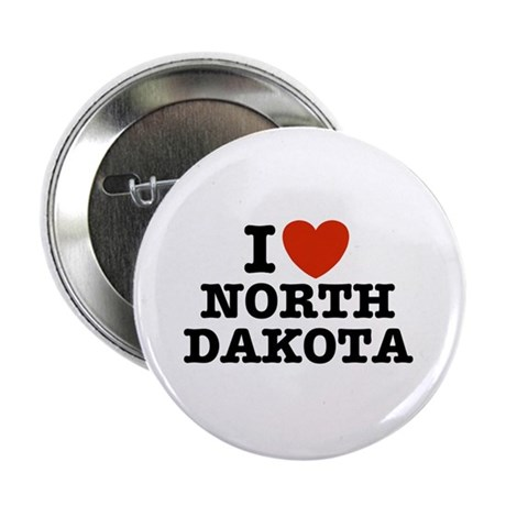 I Love North Dakota Button