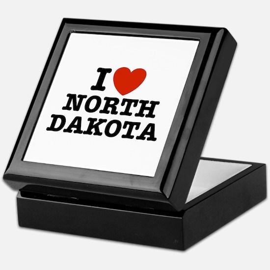 I Love North Dakota Keepsake Box