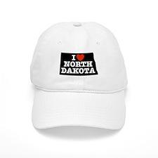 I Love North Dakota Baseball Cap