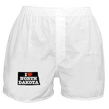 I Love North Dakota Boxer Shorts