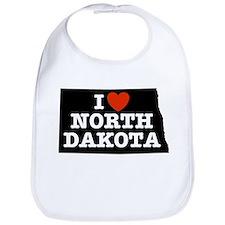 I Love North Dakota Bib