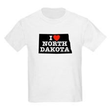 I Love North Dakota Kids T-Shirt