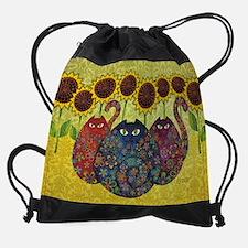 2-gatos.jpg Drawstring Bag
