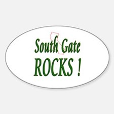 South Gate Rocks ! Oval Decal