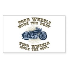 2 Wheels Move IV Rectangle Decal