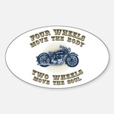 2 Wheels Move IV Oval Decal