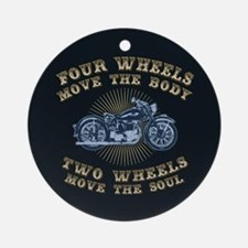2 Wheels Move IV Ornament (Round)