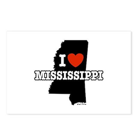 I Love Mississippi Postcards (Package of 8)