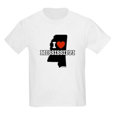 I Love Mississippi Kids T-Shirt
