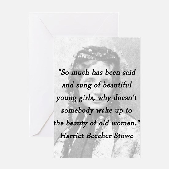Stowe - Beauty of Old Women Greeting Card