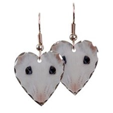 White rat Earring