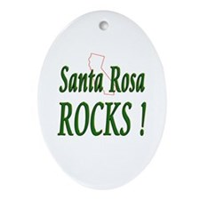 Santa Rosa Rocks ! Oval Ornament