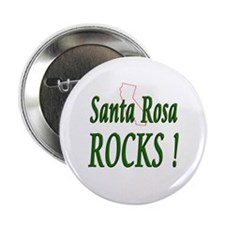 "Santa Rosa Rocks ! 2.25"" Button (10 pack)"
