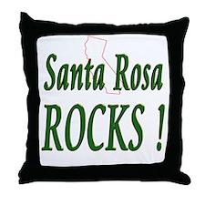 Santa Rosa Rocks ! Throw Pillow