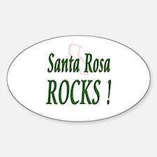 Santa Rosa Rocks ! Oval Decal